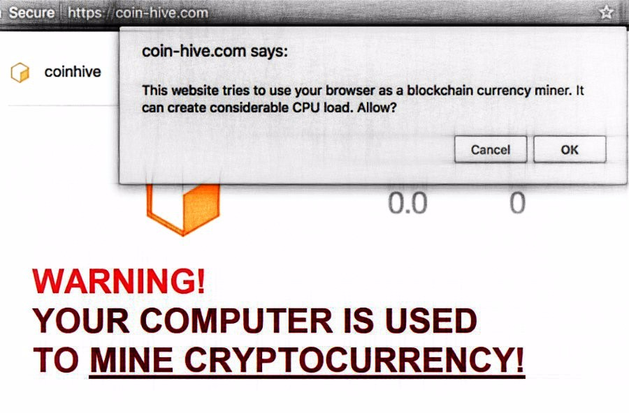 coinhive cryptocurrency mining software